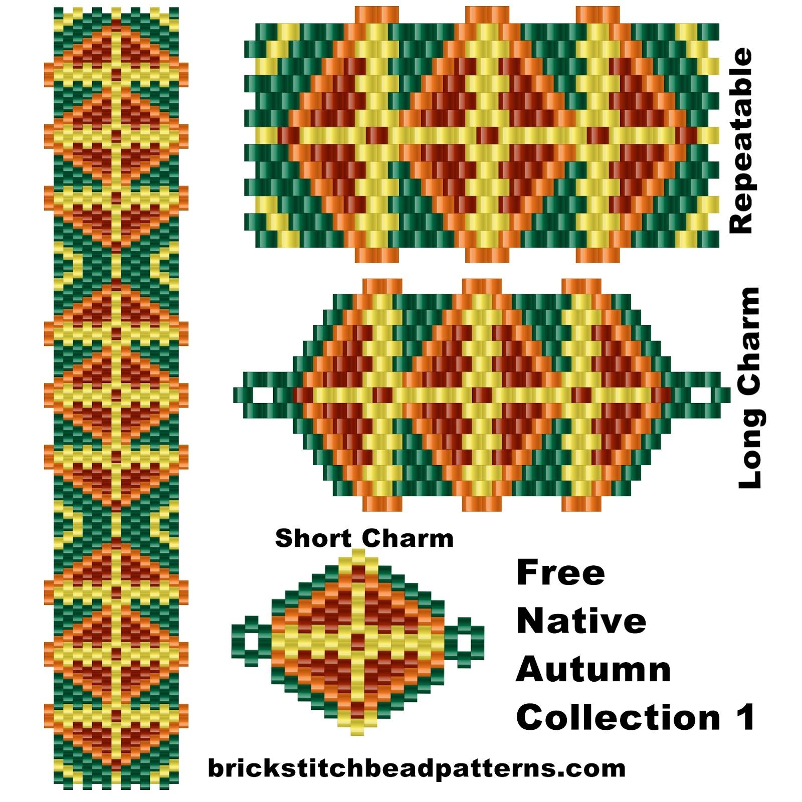 Brick Stitch Bead Patterns Journal Free Native Autumn