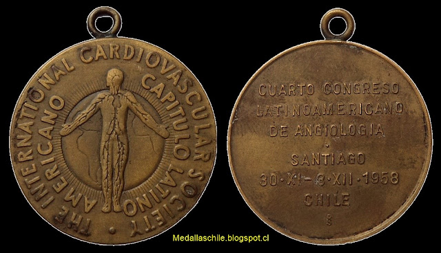 Medalla Congreso Angiologia Latino Americano 1958