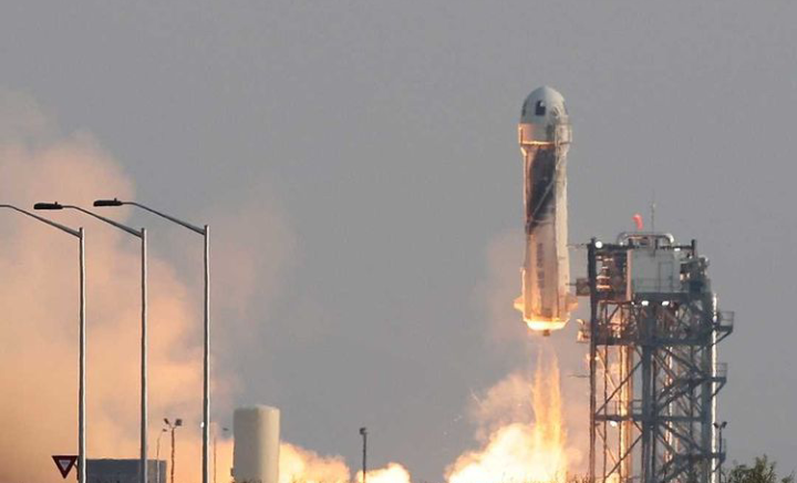 Wealthiest man on planet billionaire Jeff Bezos, travels to space in his own rocket