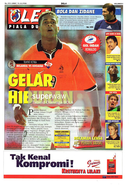 PATRIK KLUIVERT HOLLAND NETHERLAND VS CROATIA WORLD CUP 1998 FRANCE