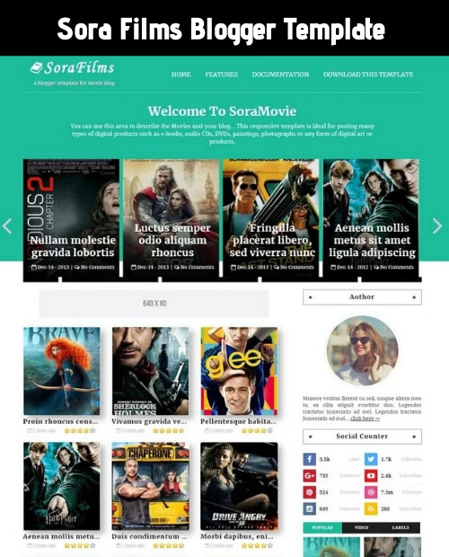 sora blogger template, best blogger template for movie blog, movie downloading blog template, best template for movie website, movie blog blogger theme, latest movie blog template, blogger theme free download, teach bhawani singh blogger template