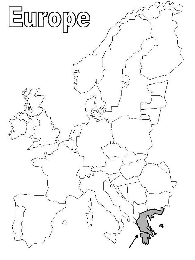Continente De Europa Para Colorear Mapas Para Imprimir