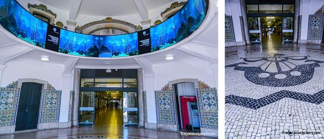 Detalhes da decoração do Mercado da Ribeira, Lisboa