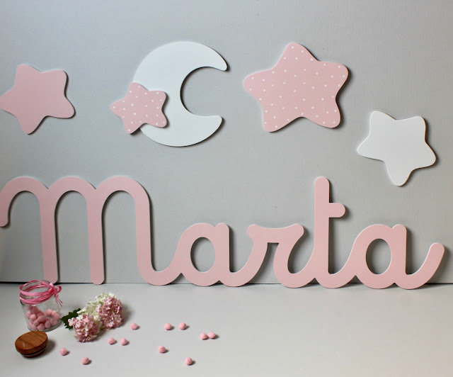 Decorar la pared con letras personalizadas