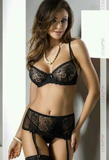 conjunto negro de lenceria jessie de sensualité