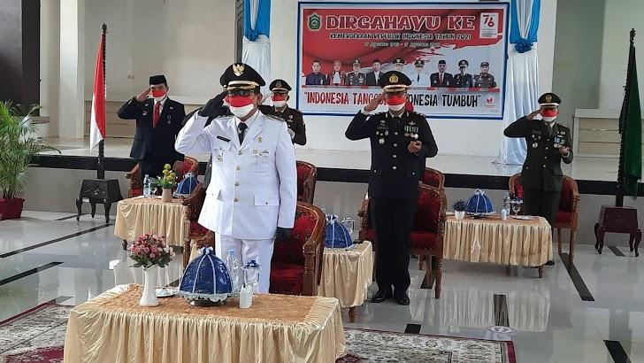 Inilah Cara Upacara HUT RI Ke 76 Pemkab, TNI Dan Polri di Takalar