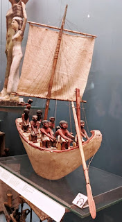 Ancient Egyptian boat model at British Museum