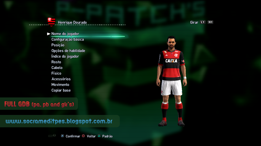 PES 2013 Full GDB C.R Flamengo V.2 by Socram