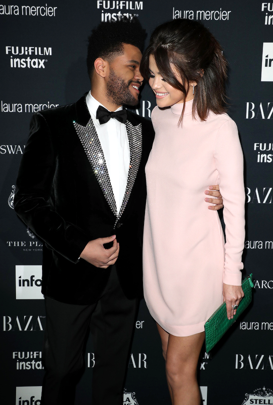 Selena Gomez and Abel Tesfaye at the Harper's Bazaar Icons Party