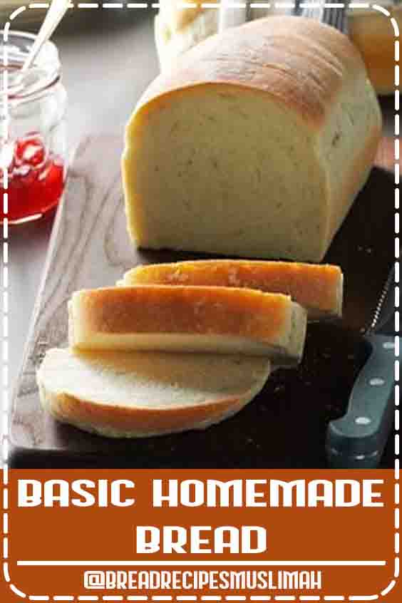 Basic Homemade Bread Recipe -Here's a basic yeast bread that bakes up golden brown. I enjoy the aroma of freshly-baked homemade bread in my kitchen. —Sandra Anderson, New York, New York #bread #baking #quick #bread #recipes #no #yeast