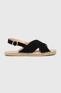 Sandale iefitne de vara negre cu talpa joasa