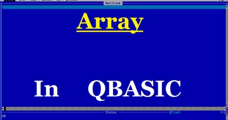 Array in QBASIC - Tech School