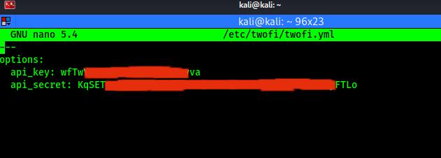 twofi config api keys
