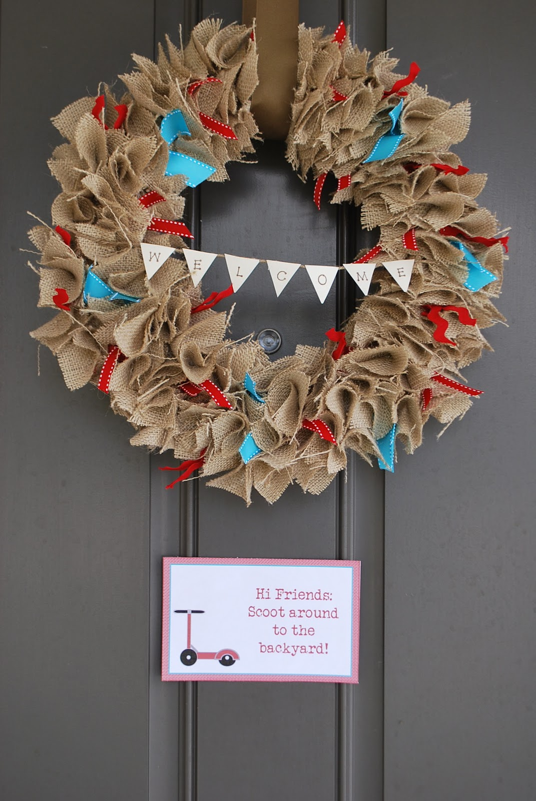 gallamore west red burlap bubble wreath. Black Bedroom Furniture Sets. Home Design Ideas