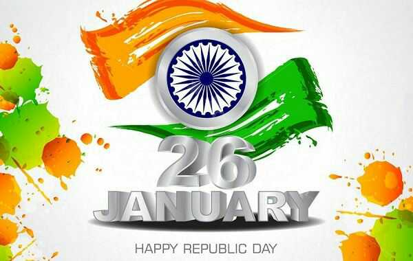 Indian Flag with Happy Republic Day
