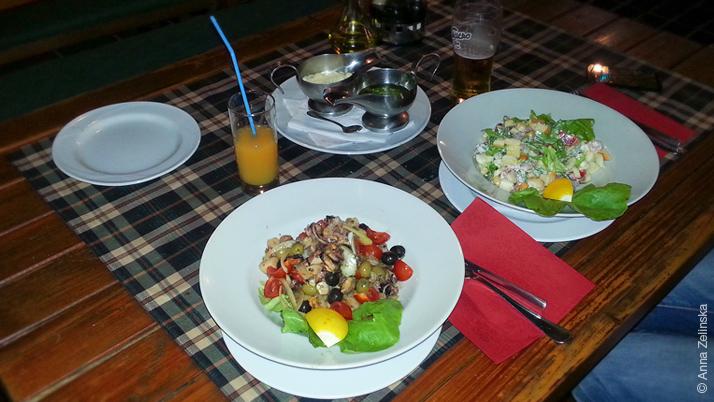Салаты в ресторане «Sunce», Петровац