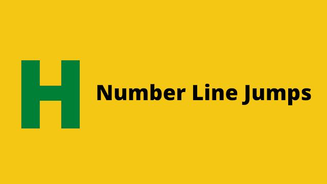 HackerRank Number Line Jumps problem solution