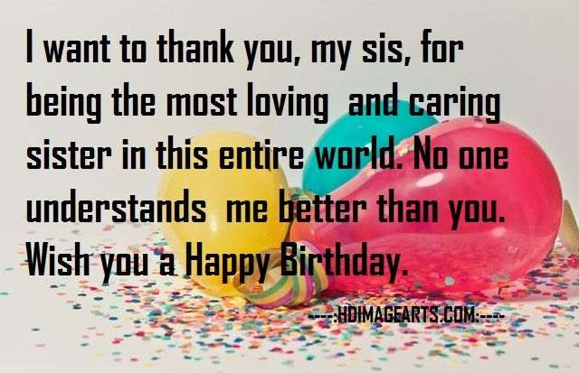 happy birthday my sister image