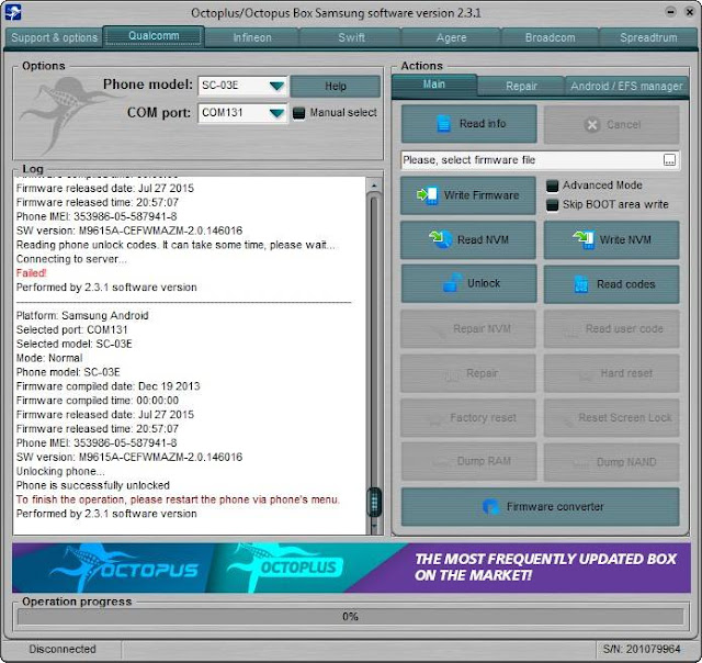 samsung s3 sc-03e unlocking done