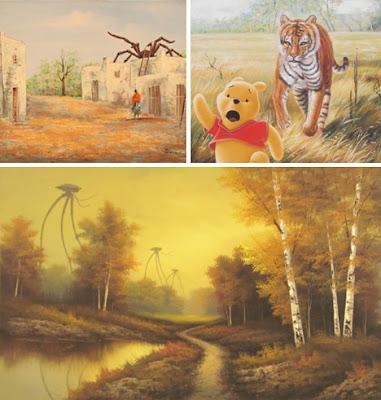 Pinturas opacas y aburridas se convierten en algo divertido.