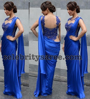 Kaftan-Indian-Saree-Mermaid-Floor-Length-Lace-Formal-Royal-Blue-Chffon-Vestido-De-Festa-Evening-Gowns