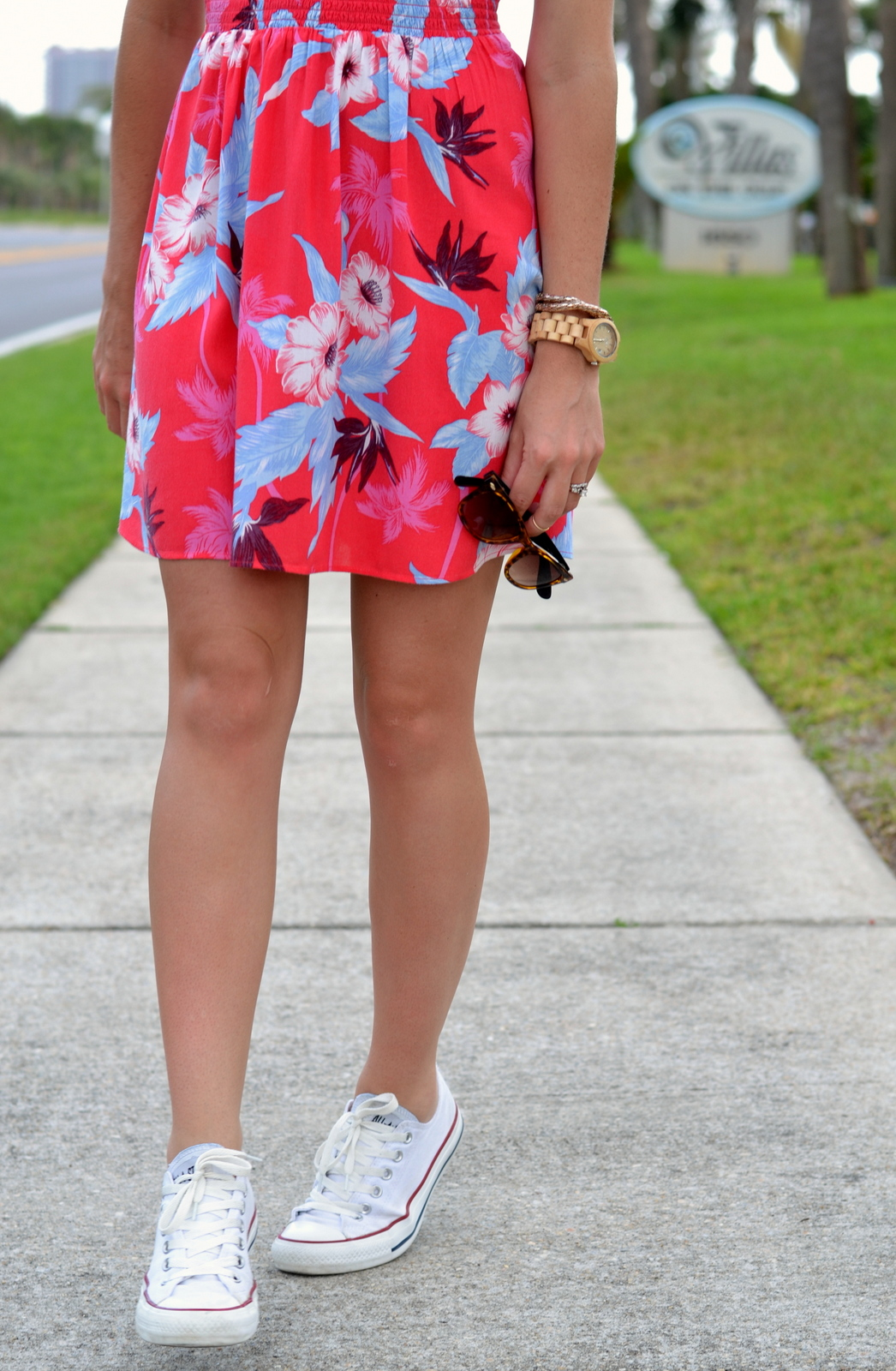 Casual Summer Dress with Converse