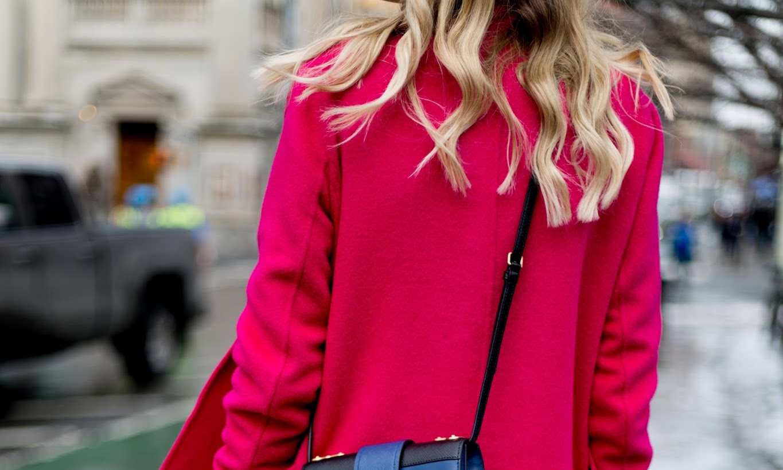 Pink Coat in New York