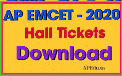 AP EAMCET 2020 Hall Ticket 2020 Download