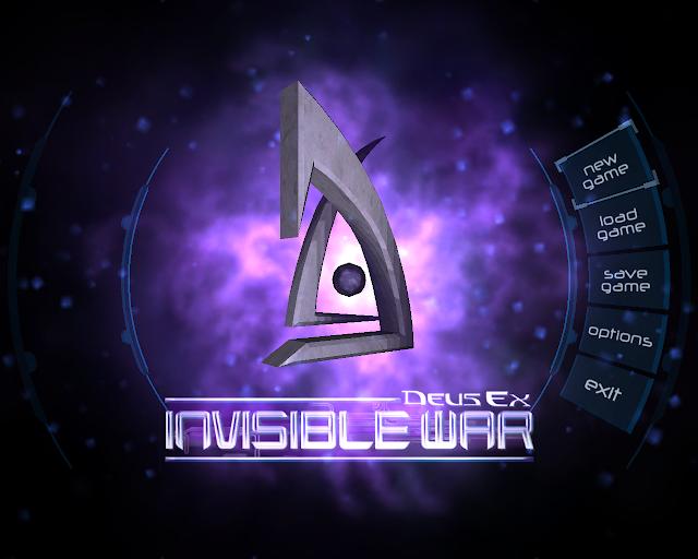 Screenshot of the Menu from Deus Ex: Invisible War