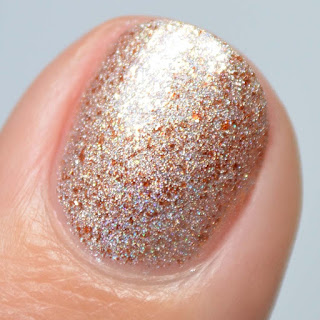 bronze flake metallic nail polish