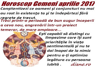 Horoscop aprilie 2017 Gemeni