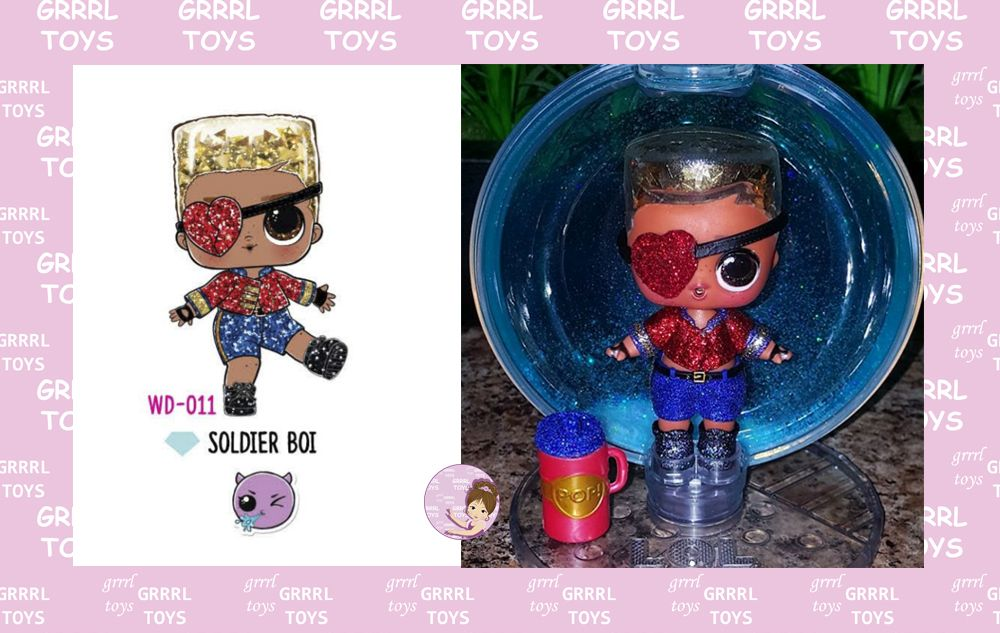 Soldier Boi Glitter Globe series 011 boy doll L.O.L. Surprise Winter Disco