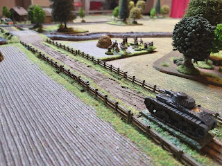 Romanian tank and infantry move forward