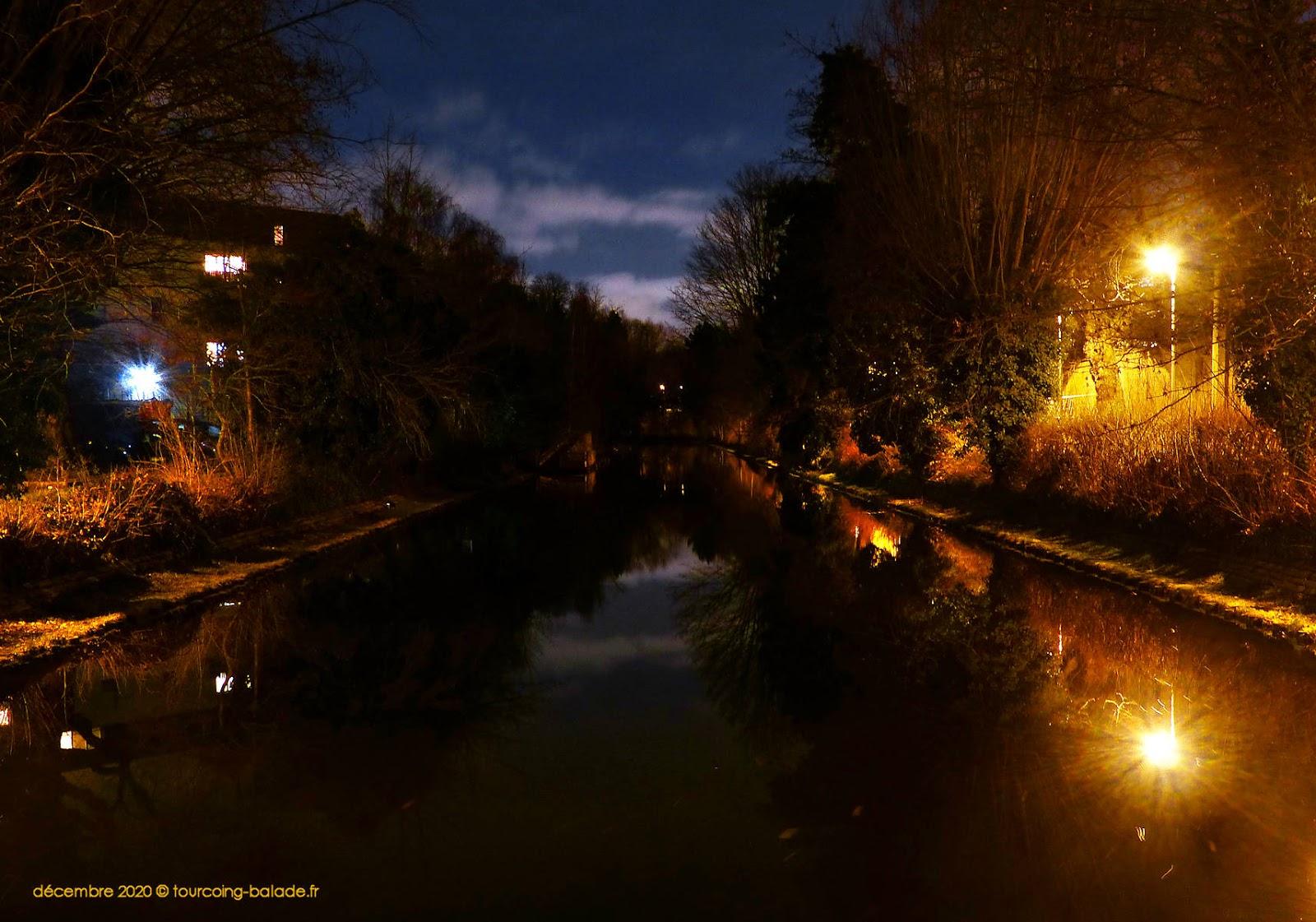 Canal de Tourcoing, Nuit Hiver 2020
