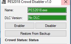 Crowd Disabler Tool   V1.0   Pes2018   Released [20.09.2017]