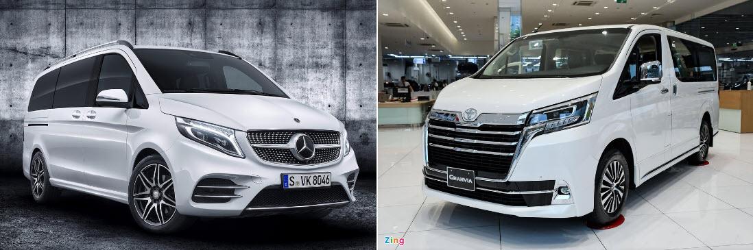 Mua MPV cỡ lớn cao cấp chọn Mercedes-Benz V-Class hay Toyota Granvia?