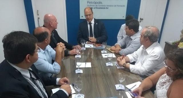 Governador Wilson Witzel se reúne com prefeitos da Região Serrana