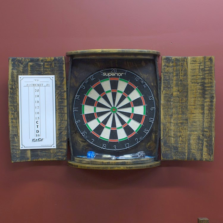 Rustic Dartboard Cabinets