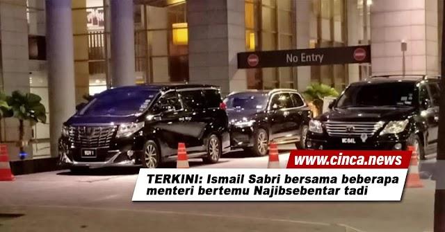 PANAS   TERKINI: Ismail Sabri bersama beberapa menteri bertemu Najib sebentar tadi