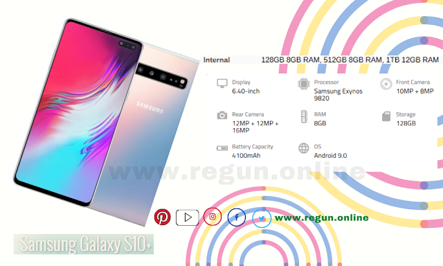 Latest Samsung Galaxy S10 + smartphone - Full phone specifications