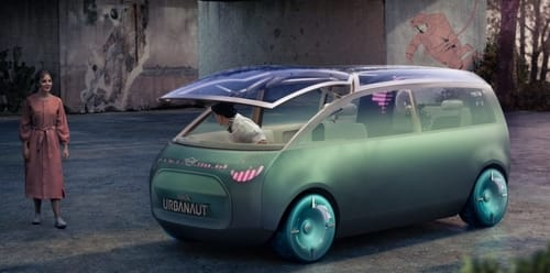 BMW introduced the electric minivan concept