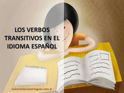 verbos, transitivos, español, portugués