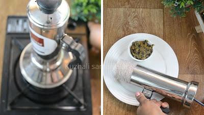 Red rice puttu recipe from scratch, Sivappu arisi puttu recipe, red rice kuzhai puttu