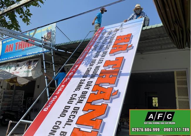Thi công Mặt dựng Alu đẹp tại Phú Quốc