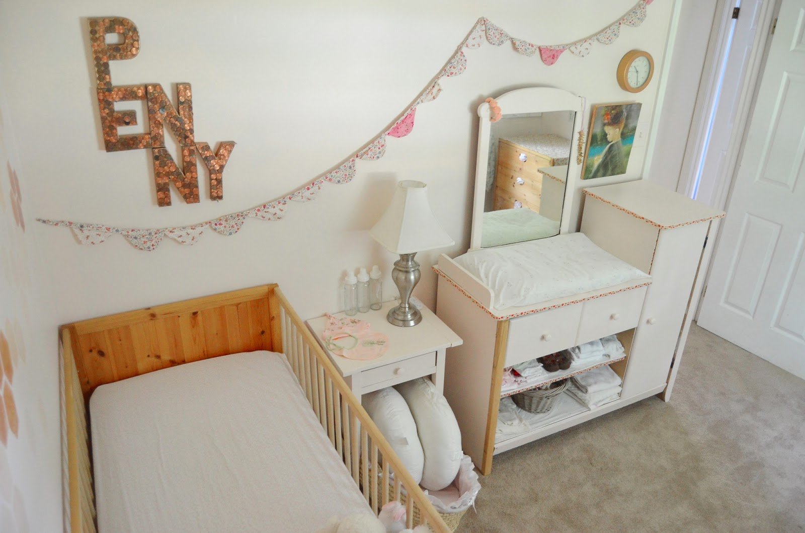 FREE Girly Nursery Changing Table