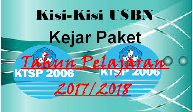 Download Kisi-Kisi USBN Kejar Paket Kesetaraan 2018