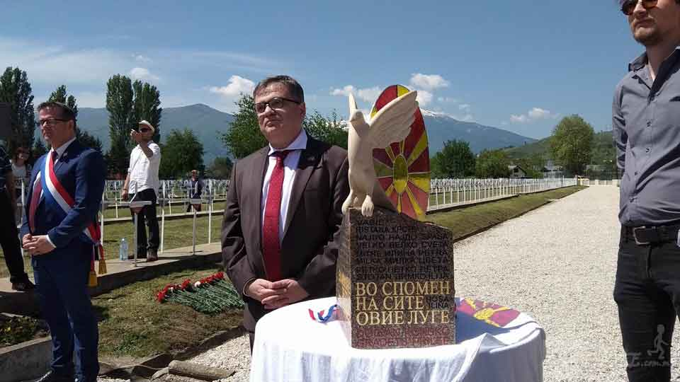 French Ambassador unveils WWI monument in Bitola