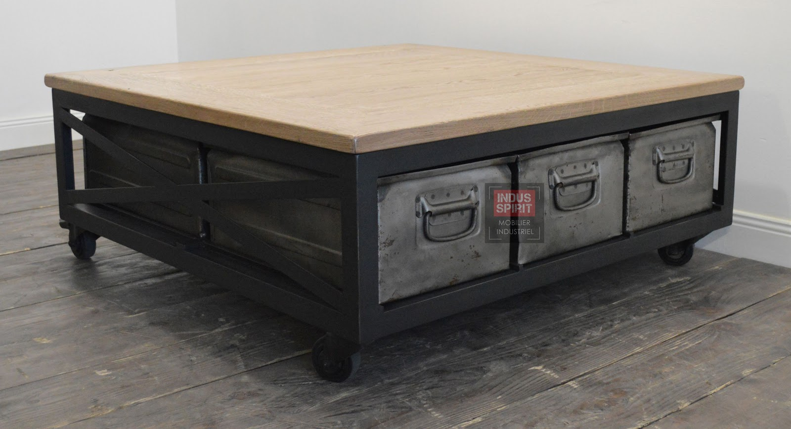 Table basse industrielle - Table basse industrielle ...
