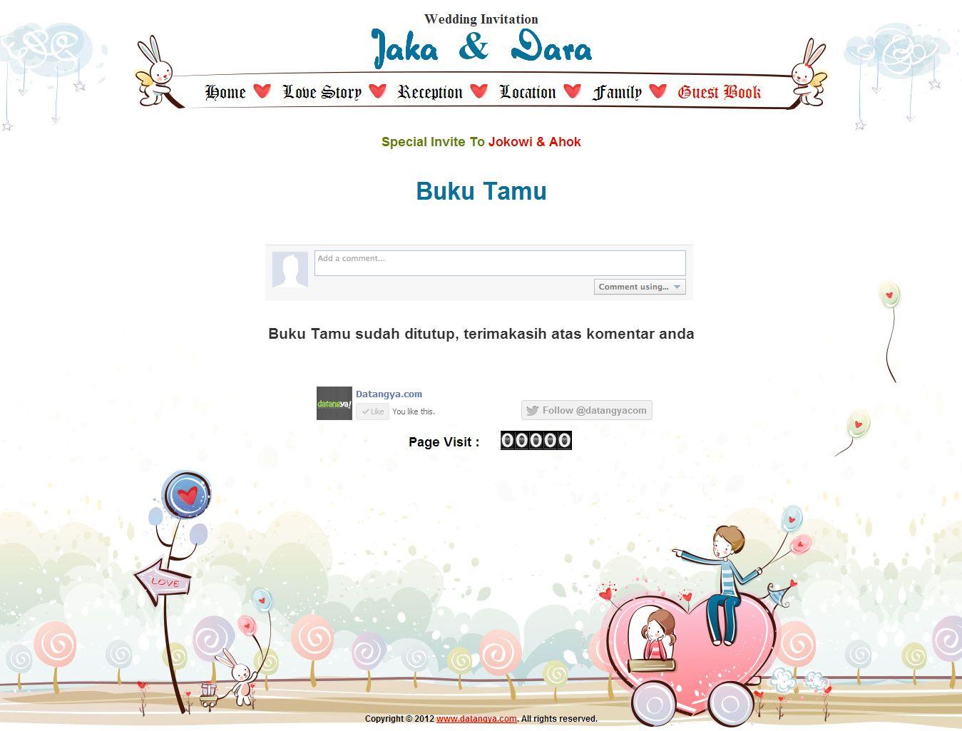 Desain Undangan Online Romantic Buku Tamu Desain Undangan Online