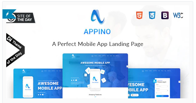 APPINO A Perfect Mobile App Landing Page